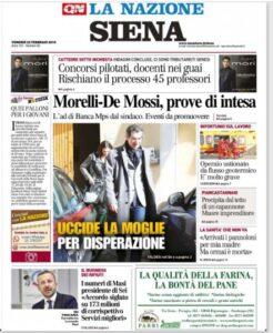 Le prime pagine dei quotidiani locali :: Siena Club ...